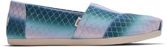 Toms Multi Iridescent Scales Mermaid Print Women's Classics