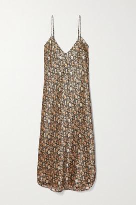 Nili Lotan Floral-print Silk-satin Dress
