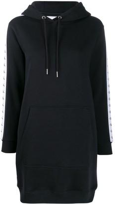 Calvin Klein Logo Strap Appliques Hoodie Dress