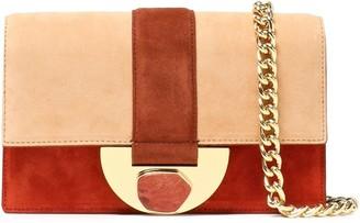 Diane von Furstenberg Bonne Journee Color-block Suede Shoulder Bag
