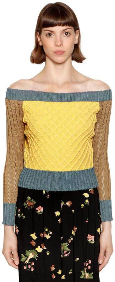 Antonio Marras Lurex & Cotton Blend Sweater