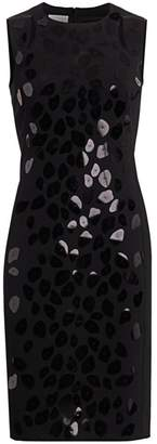 Akris Punto Leo Paillettes Sleeveless Sheath Dress