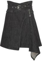 Isabel Marant Eydie Asymmetric Wrap-effect Denim Skirt - FR38