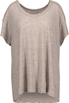 Current/Elliott The Slouchy Scoop Marled Stretch-Jersey T-Shirt