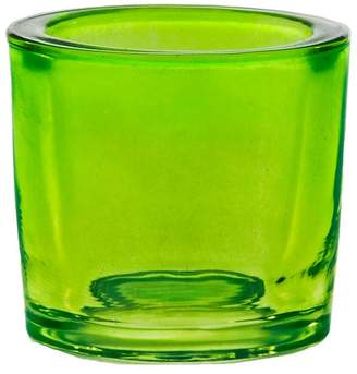 Couronne Co. Heavy Glass Votive Candle Holder, Lime Green