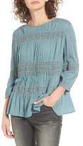 Hinge Women's Shirred Crepe Top