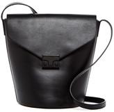 Loeffler Randall Flap Leather Bucket Bag