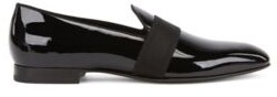 HUGO BOSS - Italian Made Loafers In Patent Leather With Grosgrain Band - Black