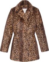 Pologeorgis The Bridget Leopard Print Fur Coat