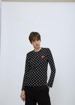 Comme des Garcons black & white polka dot tshirt