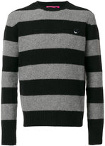 McQ by Alexander McQueen swallow badge striped pullover - men - Cashmere/Wool - S