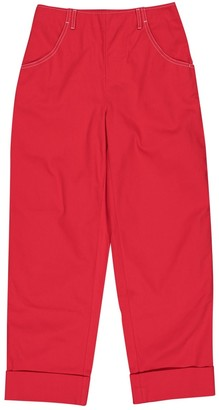 Vanessa Seward Red Cotton Trousers for Women
