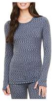 Cuddl Duds Warm Layer Active Tech Long Sleeve Crew With Thumbholes