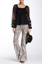 Free People Paradise Printed Flared Linen Blend Pant