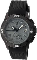 Breed Black & Gray Raylan Chronograph Watch