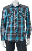 Rock & Republic Big & Tall Classic-Fit Plaid Roll-Tab Button-Down Shirt