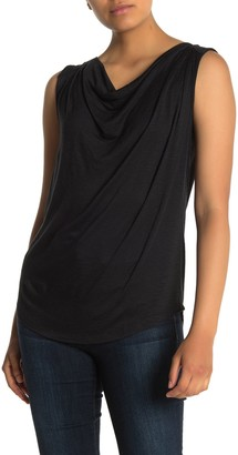Halogen Sleeveless Drape Knit Top