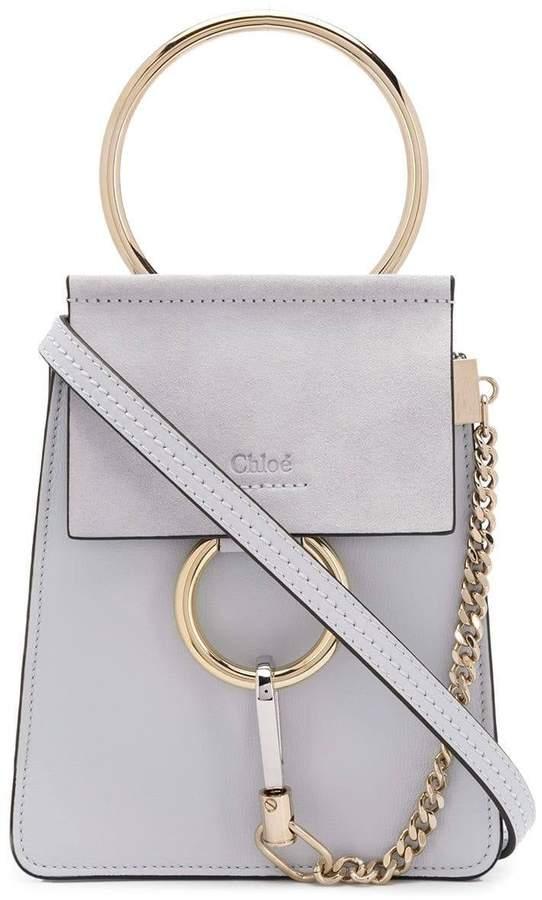 light grey small faye bracelet bag