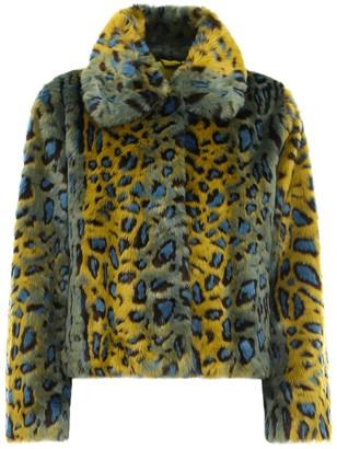 Stand Studio Marcella Leopard Print Jacket