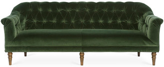 Michael Thomas Collection Gentry Sofa - Forest Green Velvet