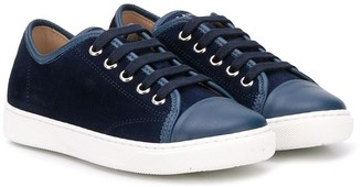 Lanvin Enfant TEEN logo low-top sneakers