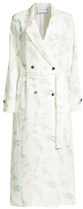 Michelle Waugh The Jany Print Silk Trench Coat