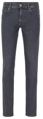 BOSS Extra-slim-fit grey jeans in Italian stretch denim