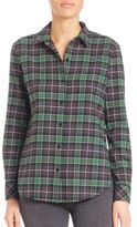 Elizabeth and James Cotton Button-Down Plaid Shirt