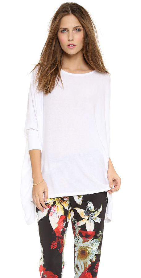 Alice + Olivia AIR by Boat Neck Rectangle Tee