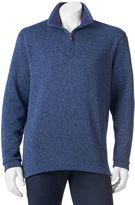 Haggar Men's Classic-Fit Quarter-Zip Fleece Sweater Pullover