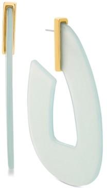 Steve Madden Women's Pink Acrylic Hoop Gold-Tone Earrings