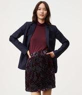 LOFT Velvet Vine Skirt