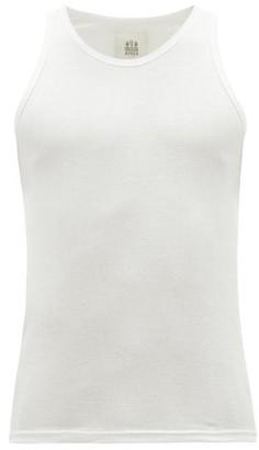 Hemen Biarritz - Gari Ribbed Organic Cotton-jersey Tank Top - White