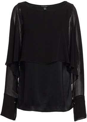 St. John Liquid Satin Evening Cape Top