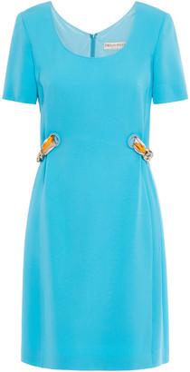 Emilio Pucci Chain-embellished Stretch-crepe Mini Dress