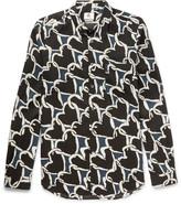 Paul Smith Heart-Print Voile Shirt