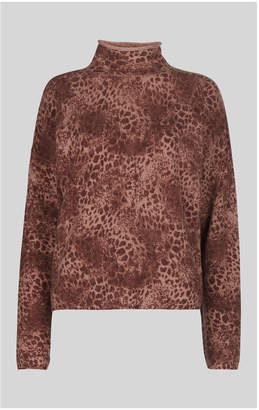 Whistles Big Cat Roll Neck Wool Knit