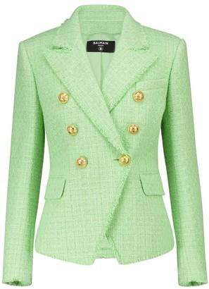 Balmain Cotton-blend tweed blazer