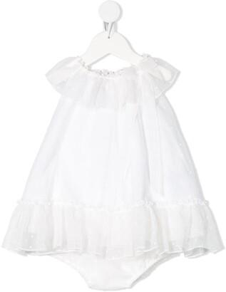 La Stupenderia Full Shape Ruffled Neck Dress