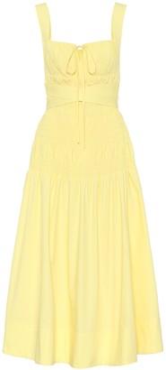 Self-Portrait Cotton midi dress