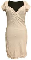 Velvet White Cotton - elasthane Dress for Women