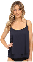 MICHAEL Michael Kors Chain Solids Layered Tankini Top