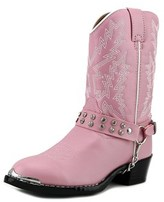 Durango Bt568 Youth Pointed Toe Synthetic Pink Western Boot.