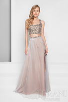 Terani Prom - Dazzling Crystalized Halter Straps Polyester A-Line Dress 1711P2719