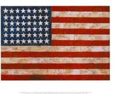 Art.com Flag, 1954-55 Art Poster Print by Jasper Johns, 14x11