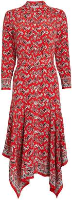 Veronica Beard Willamette Paisley Silk Shirt Dress