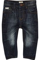 River Island Mini boys dark blue wash skinny jeans