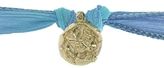 Catherine Michiels Sundar 14 Karat Gold Charm & Silk Bracelet Wrap