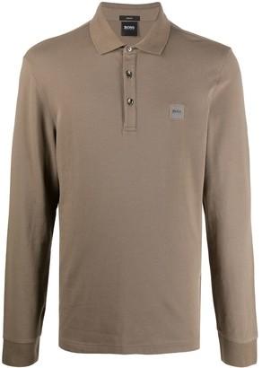 HUGO BOSS Logo-Patch Polo Shirt