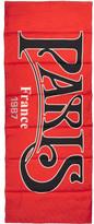 Balenciaga Red and Black paris France Scarf